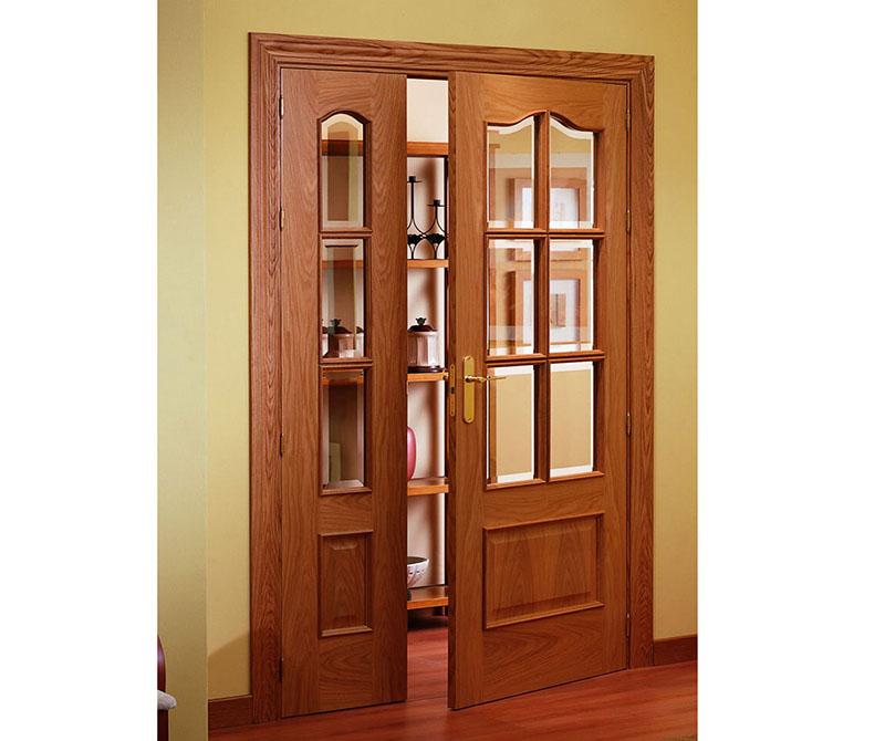 Zamora interior 6 light glazed door with side panel oak